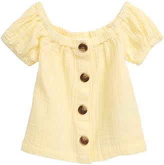 Seed Heritage Button Front Cheesecloth Top