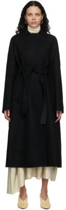 Jil Sander Black Sport Trench Coat