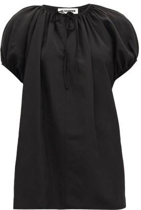 Jil Sander Ninette Gathered Tie-neck Blouse - Black