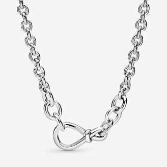 Pandora Chunky Infinity Knot Chain Necklace