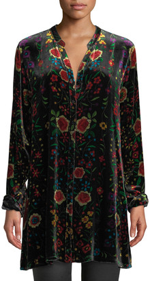 Johnny Was Easy Embroidered Velvet Tunic