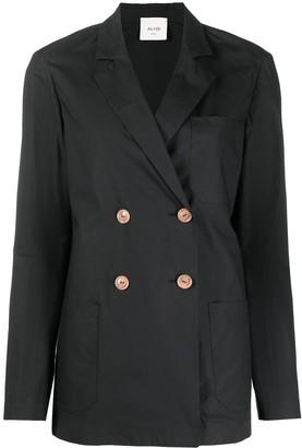 Alysi Double-Breasted Cotton Blazer