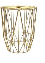 Life Interiors Outdoor Coffee & Side Tables Studio Wire Side Table, Gold