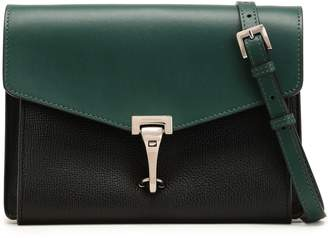 Burberry Two-tone Smooth And Textured-leather Shoulder Bag