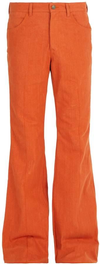 Gucci Cotton-denim flared trousers