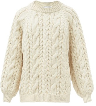 Mr Mittens - Maxi Cable Wool Sweater - Ivory