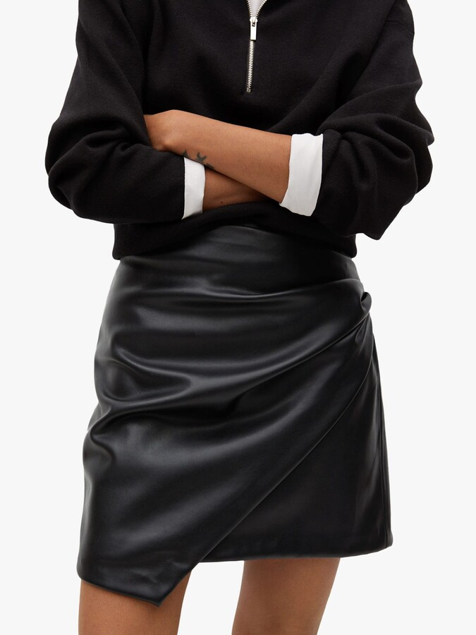 Thumbnail for your product : MANGO Faux Leather Mini Skirt