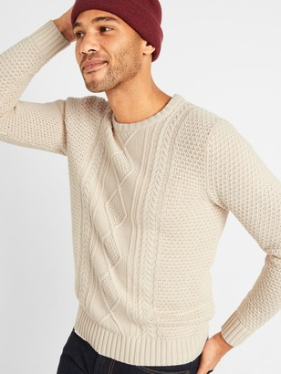 Old Navy Textured Cable-Knit Crew-Neck Sweater for Men