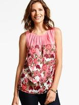 Talbots Climbing Floral Shell Top