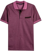 Pal Zileri Grape Piqué Cotton Polo Shirt