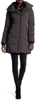 Soia & Kyo Faux Sheepskin Trim Hooded Down Jacket