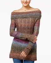 American Rag Off-The-Shoulder Rainbow Sweater, Only at Macy's