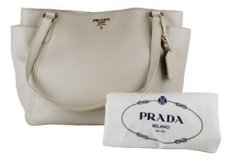 Prada Ecru Leather Handbags