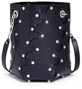 Proenza Schouler 'Hex' stud mini interlocked leather panel bucket bag