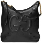 Gucci Sac à épaule GG embossé en cuir - women - Cotton/Leather - One Size