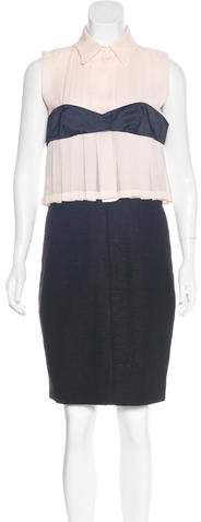 Chanel Silk & Wool Pleated Dress