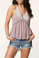 O'Neill Embroidered Ruffle Halter