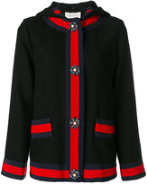Gucci Embroidered hooded jacket