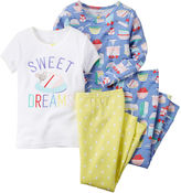 Carter's 4-pc. Sweet Dreams Pajama Set - Preschool Girls 4-7