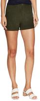 J Brand Mila Leather Nubuck Short