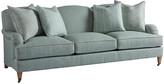 Barclay Butera Sydney Sofa - Sea Glass frame, sand; upholstery, sea glass; casters, brass