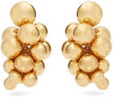 Oscar de la Renta Sphere-embellished cluster clip-on earrings