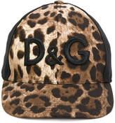 Dolce & Gabbana leopard print logo cap