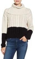 BP Women's Colorblock Knit Turtleneck Sweater