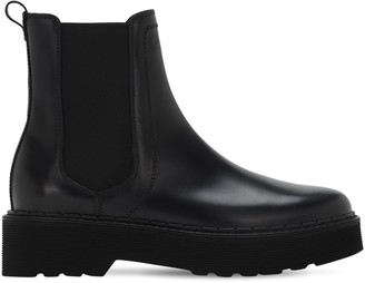 Tod's 40mm Brushed Leather Beatle Boots