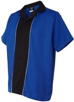 Hilton Quest Bowling Shirt, L, Royal / Black
