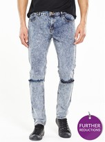 Criminal Damage Skinny Ripped Jean