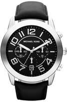 Michael Kors MK8288 Mercer Chronograph Black Dial Leather Strap Mens Watch