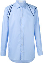 Alexander McQueen shoulder detail shirt - men - Cotton - 15 1/2