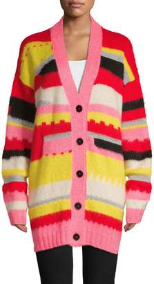 MSGM Colourblock Buttoned Cardigan