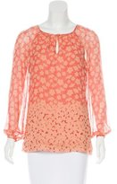 Tory Burch Silk Floral Print Blouse