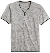 INC International Concepts Men's Le Grecko Heathered Y-Neck T-Shirt, Created for Macy's