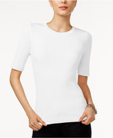 Tommy Hilfiger Ribbed Crew-Neck Top, Only at Macy's