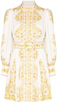 Zimmermann Super Eight Tubular Embroidered Mini Dress
