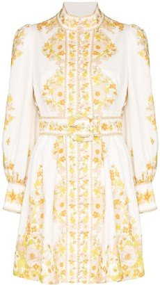 Zimmermann Super Eight Tubular Embroidered Mini Dress