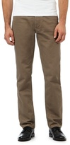 J By Jasper Conran Big And Tall Light Brown Textured Waffle Trousers