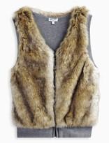 Splendid Girl Reversible Faux Fur Vest