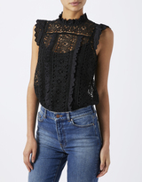 Monsoon Casey Victoriana Lace Frill Blouse