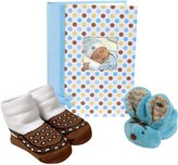 Stephan Baby Mini-Dot Photo Brag Book, Boo Bunnie and Bootie Socks Gift Set
