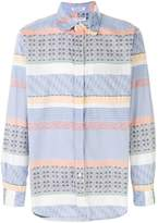 Engineered Garments patterned panel shirt