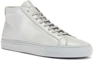 Common Projects Original Leather Achilles Mid in Grey | FWRD