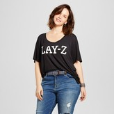 Fifth Sun Women's Plus Size Lay-Z Graphic Tee Black Juniors')