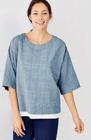 J. Jill Pure Jill Plaid Open-Weave Kimono