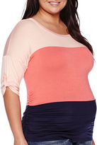 Asstd National Brand Maternity Elbow-Sleeve Dolman Top
