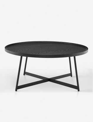 Lulu & Georgia Gweneth Round Coffee Table, Black Ash