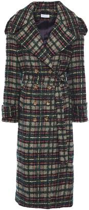 Hofmann Copenhagen Belted Checked Boucle-tweed Trench Coat